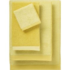 Reversible Yellow Bath Towels in Bath Towels | Crate and Barrel