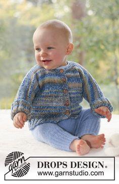 DROPS jakke i 2 tråde Fabel og bukser i 1 tråd Alpaca. Gratis opskrifter fra DROPS Design.