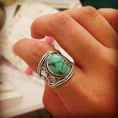 Natural Turquoise Ring, Turquoise Sterling Silver Ring, Wide Band Ring – Its Ambra Boho Rings, Jewelry Rings, Fine Jewelry, Natural Jewelry, Glass Jewelry, Jewelry Logo, Craft Jewelry, Yoga Jewelry, Pandora Jewelry