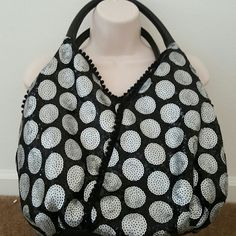 HANDBAG sequins - very detailed Silver & black handbag no name see tag on picture Bags Hobos
