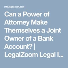 You've named a trusted friend your power of attorney to pay your bills while you're away. But, when you return, you find they've made themselves a joint owner of your bank account. Keep reading to get the facts on what to do if this happens. Canadian Law, Power Of Attorney, Bank Account, Accounting, How To Get, Canning, Power Of Attorney Form, Business Accounting, Home Canning