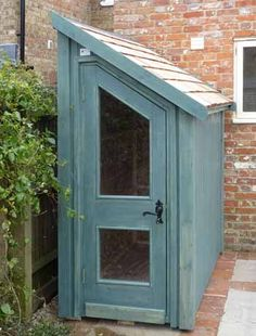 Lean-to half shed.  Maybe add a potting bench to the side and use the shed for storage.