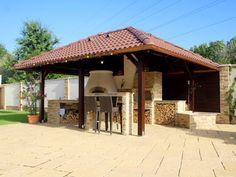 Kemax - Szolnoki kerti konyha Gazebo, Pergola, Outdoor Structures, Gardening, Kitchen, Projects, Cooking, Kiosk, Garten
