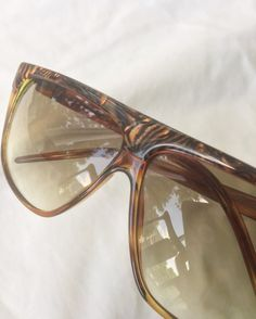 4a00f880488 FREE SHIPPING RARE 80 s Laura Biagiotti Italian sunglasses mother of pearl  and translucent amber bro