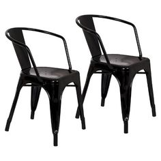 Cute metal black chairs - cute for our basement game table....