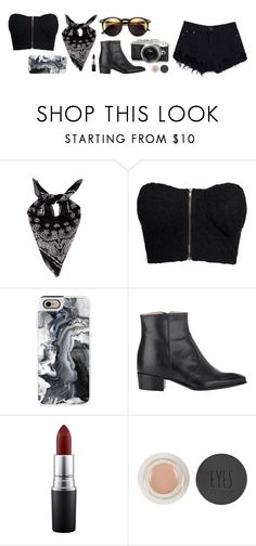 """""""01149~"""" by andreavc ❤ liked on Polyvore featuring Yves Saint Laurent, NLY Trend, Casetify, Jean-Michel Cazabat, Wildfox, MAC Cosmetics, Retrò and Topshop"""