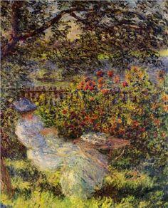 Alice Hoschede in the Garden - Claude Monet