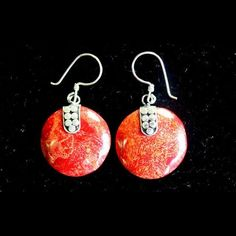 Disc Disc Decor Coral Earrings | Spiritual Style