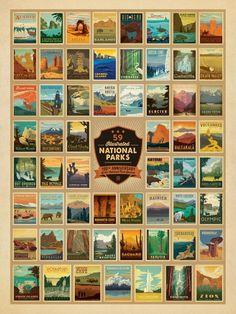 Celebrate America's 59 National Parks, 500 Piece Jigsaw Puzzle
