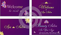 Vector Ornamental Lotus Flower Spa Card