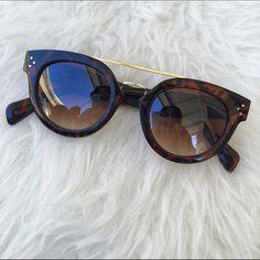 TORTOISE SHADES GOLD METAL FRAMES SUNGLASSES New Accessories Sunglasses