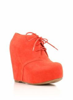 lace-up bootie wedge