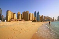 City in the Sand, Dubai Marina really is 'on the beach'.