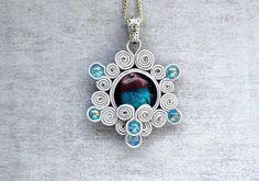 Snowflake soutache necklace Soutache jewelry venice by ShoShanaArt, $24.50