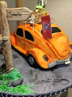 VW Beetle 50th Birthday Cake 50th Birthday, Birthday Cake, Vw Beetles, Celebration Cakes, Custom Cakes, Themed Cakes, Spoon, Custom Design, Shower Cakes