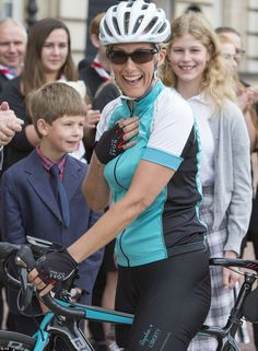 The Royal said she was overwhelmed when she pedalled to the finish, adding: 'I do feel goo...