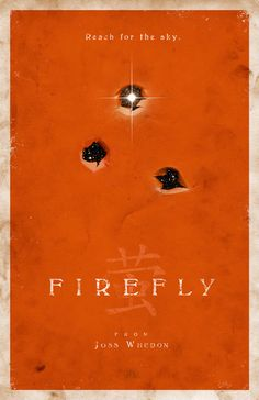 Firefly 11x17 Poster by adamrabalais on Etsy | This shop has dozens of fantastic, minimalist, movie posters. They would look great hanging in a rec room or home theatre.
