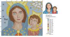 Schema punto croce Madonna dell'Arco