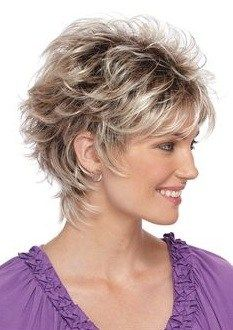 Short Layered Haircuts Fine Hair - Makeup and Tattoo Ideas Short Shaggy Haircuts, Shaggy Short Hair, Short Shag Hairstyles, Short Grey Hair, Medium Short Hair, Short Hair With Layers, Short Hairstyles For Women, Medium Hair Styles, Curly Short