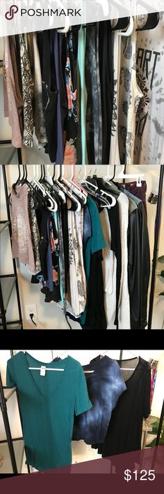 Clothes I like to periodically purge my wardrobe of the things I no longer wear. Brands range from PacSun, Victoria's Secret, Juicy Couture, Zumiez, etc. Total, there are 16 tank tops/shirts, one sweater, 2 dresses, 2 jackets, and one pair of burgundy high waisted jeans (size sm). I would like for all of it to go to one home! Tops
