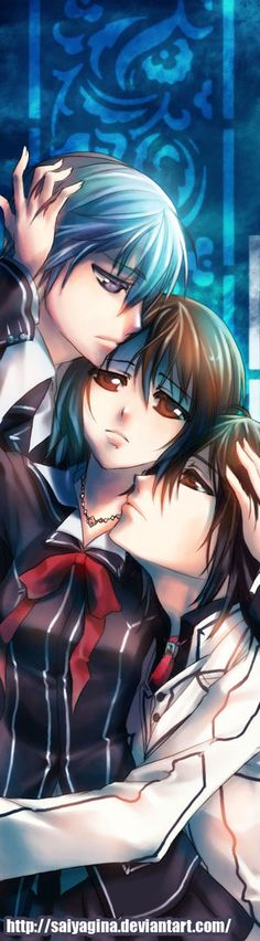 Vampire Knight, Zero, Yuki, and Kaname 🌹 Manga Anime, Fanart Manga, Anime Art, I Love Anime, Anime Guys, Awesome Anime, Yuki And Kaname, Vampire Knight Zero, Vampire Knight Season 3