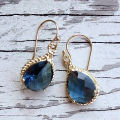 Malibu Sapphire Gold Earrings. @Sarah Nasafi Grayce #laylagrayce