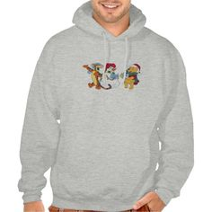 Tigger and Pooh Carolling Hooded Pullover
