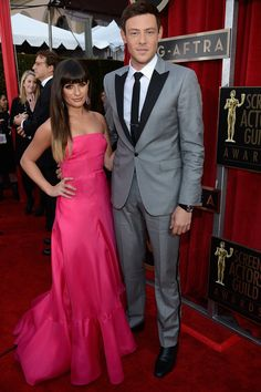 Lea Michele y Cory Monteith.. love glee sad he wont be on anymore rip cory