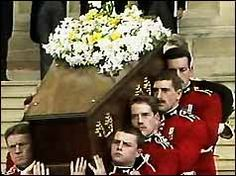 April 29, 1986: The funeral of the Wallis Simpson, Duchess of Windsor, wife of the Duke of Windsor, the former King Edward VIII, who abdicated the throne of England in 1936 to marry her. She died on April 24, 1986.