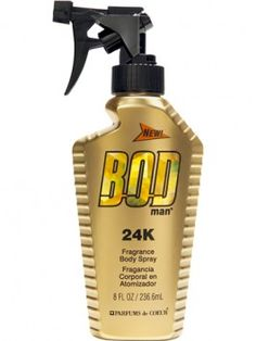 BOD Man 24k Fragrance Body Spray is a combination of sparkling Mediterranean lavender and crisp clary sage. The fragrance ends with a warm, woody dry-down of amber and sensual musk.