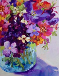 "Libby Anderson Daily+Paintworks+-+""Yay+for+Robin""+-+Original+Fine+Art+for+Sale+-+©+Libby+Anderson Abstract Flowers, Watercolor Flowers, Watercolor Paintings, Abstract Paintings, Art Paintings, Landscape Paintings, Art Floral, Floral Artwork, Fine Art Auctions"
