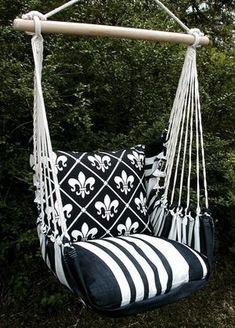 Black French Quarter Hammock Chair Swing Set #HammockChair