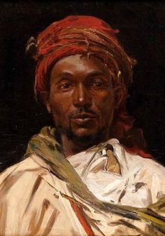 Arab in a Red Headscarf (1905), Jose Silbert
