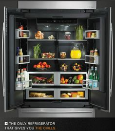 If it's possible to be in love with the inside of a refrigerator I'm in love with this one! <3 It's from Jenn-Air.