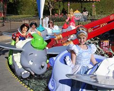 flickr disney | Princesses riding Dumbo | Disney Things | Pinterest