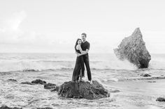 I headed down with Melia + Jeff to Malibu to capture their El Matador engagement. We lucked out and practically had the beach all to ourselves! Wedding Photography Poses, Beach Photography, Couple Photography, Photography Ideas, Engagement Photo Inspiration, Photoshoot Inspiration, Couple Beach Photos, Family Photos, Beach Engagement