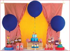 carnival REAL PARTIES: Carnival Caper Birthday // Hostess with the Mostess® Vintage Carnival Alice Tea Party Starry priscilla dress, Dress,. Circus Carnival Party, Circus Theme Party, Carnival Birthday Parties, Carnival Themes, Circus Birthday, First Birthday Parties, Birthday Ideas, Circus Circus, Backdrops For Parties