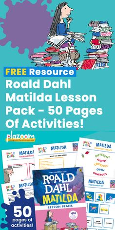 This glorious set of six free lesson plans from The Roald Dahl Story Company ventures into subjects across the curriculum, with plenty of carefully planned activities to keep pupils engaged and eager to learn. Roald Dahl Stories, Roald Dahl Day, Matilda Roald Dahl, Roald Dahl Activities, Teaching Activities, Roald Dalh, Free Homeschool Curriculum, Homeschooling, Author Studies
