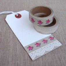 Lace Rose Washi Tape Set