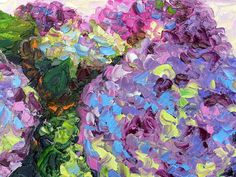 Items similar to Hydrangea Still life Textured Palette Knife Original Oil Painting on Small Canvas on Etsy Knife Art, Palette Knife, Hydrangea, Still Life, Texture, Rock, Unique Jewelry, Handmade Gifts, Crystals