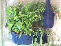 Create a Sling-Style Plant Hanger from an Old Pair of Jeans - Yahoo! Voices - voices.yahoo.com
