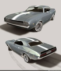 The design is based on the Dodge Challenger. By bazze.