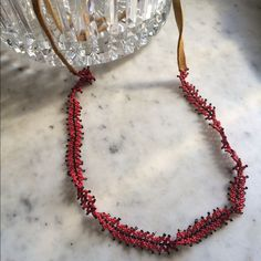 Gorgeous Beaded Leather Necklace #170918002