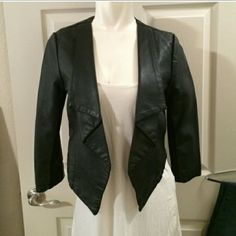 Sale!!!!Faux leather blazer Price is firm. New without tags. I'll mail within 24 hrs. Not taking offers or is priced at absolute lowest price. Thanks! f21 boutique  Jackets & Coats Blazers