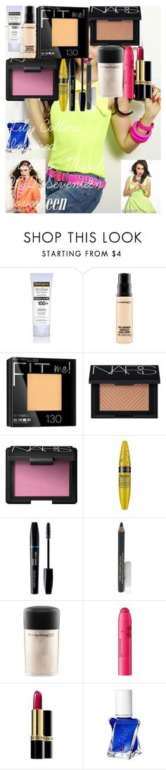 """Lily Collins Inspired Makeup: March 2012 Seventeen Cover!"" by oroartye-1 on Polyvore featuring beauty, COVERGIRL, MAC Cosmetics, Maybelline, NARS Cosmetics, Estée Lauder, Revlon and Essie"
