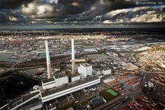 Centrale thermique EDF du Havre (FRANCE).