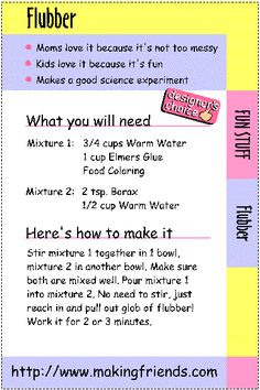 4 weeks of frugal family fun homemade flubber day 1 craft 4 weeks of frugal family fun homemade flubber day 1 craft activities and kid activities ccuart