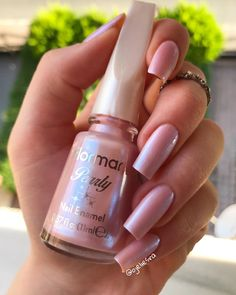 flormar oje [New] The 10 Best Nail Ideas - flormar Classy Nails, Stylish Nails, Trendy Nails, Swag Nails, Fun Nails, Nail Paint Shades, Pretty Nail Colors, Luxury Nails, Best Acrylic Nails