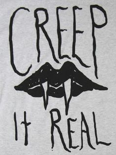 Creep It Real - Halloween vampire teeth Halloween Signs, Halloween Art, Holidays Halloween, Happy Halloween, Halloween Decorations, Funny Halloween Quotes, Halloween Humor, Halloween Vampire, Halloween Parties