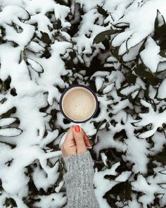 coffee, and snow